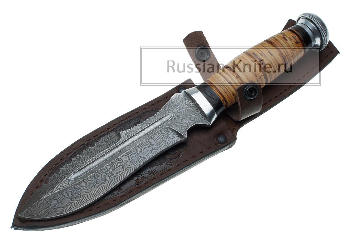 Нож барс 6 дамасская сталь в комплект