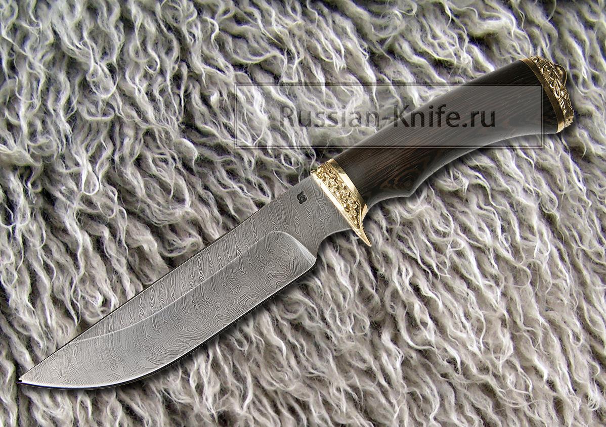 Нож бриг 1 дамасская сталь в комплект