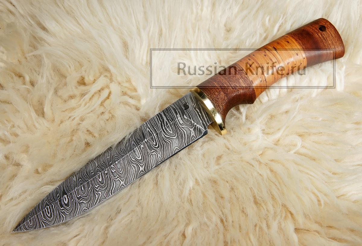 Нож пехотный дамасская сталь в