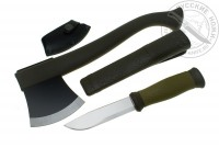 - Набор Morakniv Outdoor Kit MG, нож Mora 2000 + топор (зеленый), #1-2001