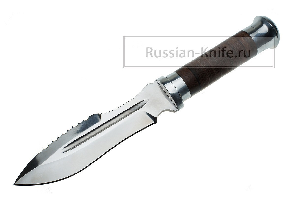 Нож Пограничник, сталь 95х18, кожа