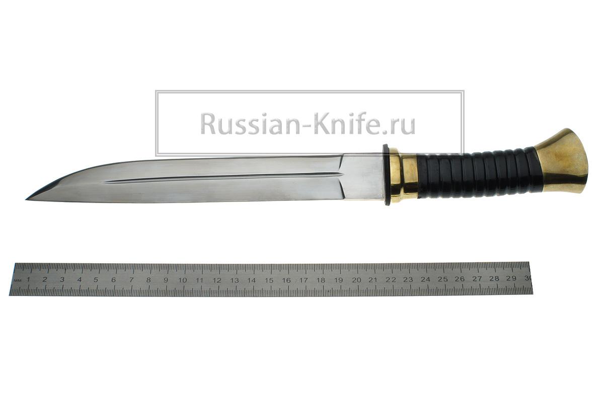 Нож пластунский казачий Казачий нож Пластунский (сталь 95Х18) на ножнах худож. литье