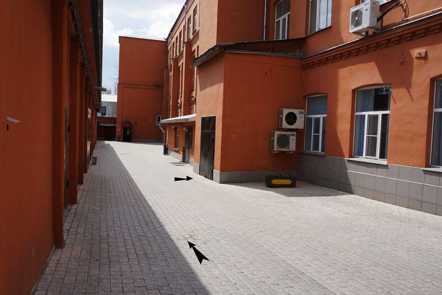 Путь к офису Магазина Русские ножи внутри офисного центра Софья-Центр