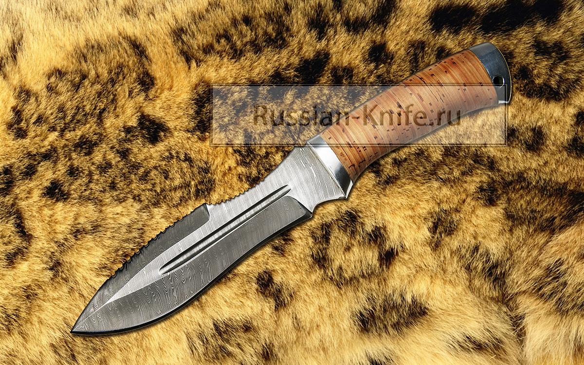 Нож барс дамасская сталь в комплект