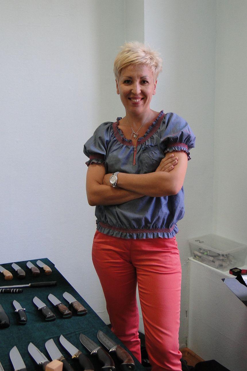 Чебурков А.И. в магазине Русские Ножи (Марина)