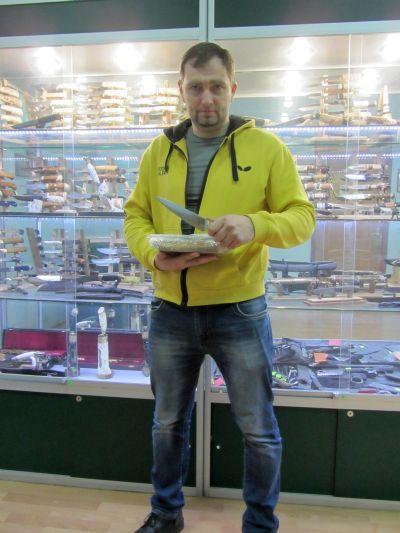 Сидоров Валерий, выиграл набор кухонных ножей Чебуркова